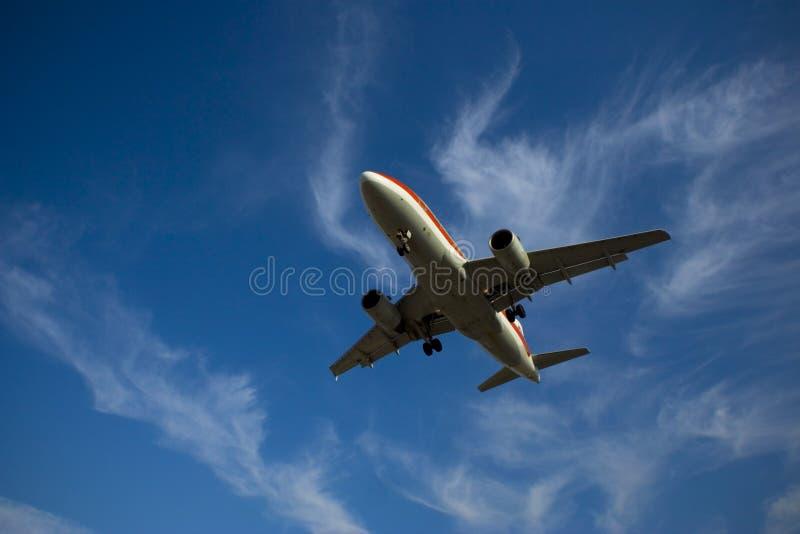 Plane. Landing or flying away royalty free stock photo