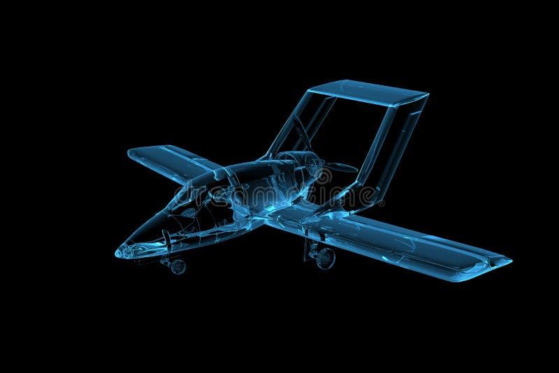 Download Plane 3D Rendered Xray Blue Stock Illustration - Image: 14260972
