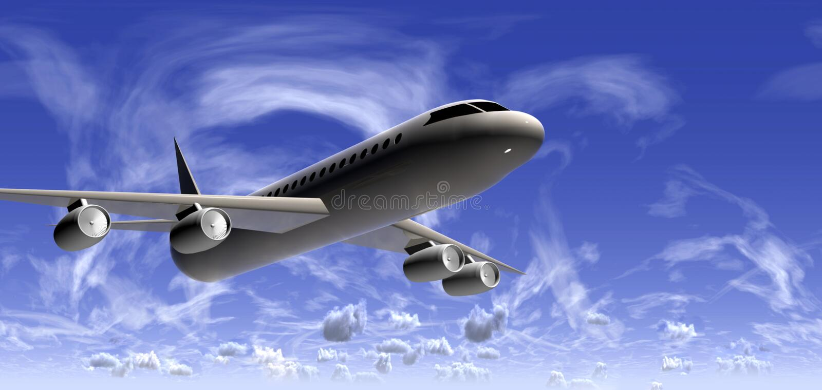 Download Plane stock illustration. Image of corporate, engines - 4172510