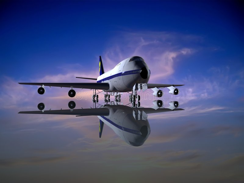 The plane vector illustration