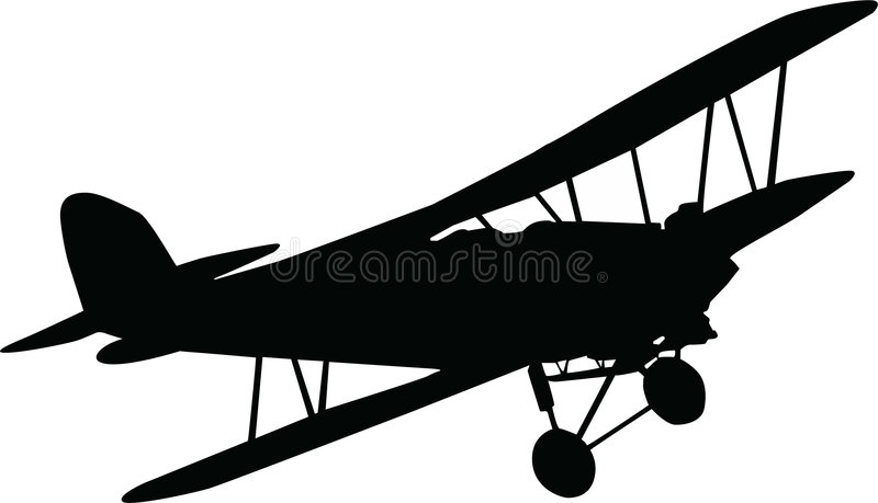 Plane. Black plane on white background