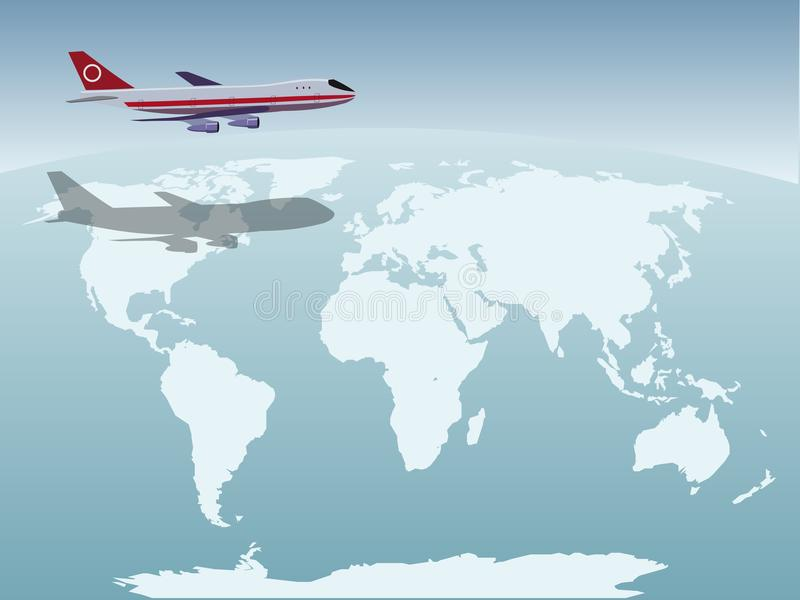 Plane above the Earth royalty free stock images