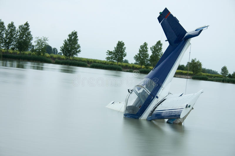 Plane accident stock images