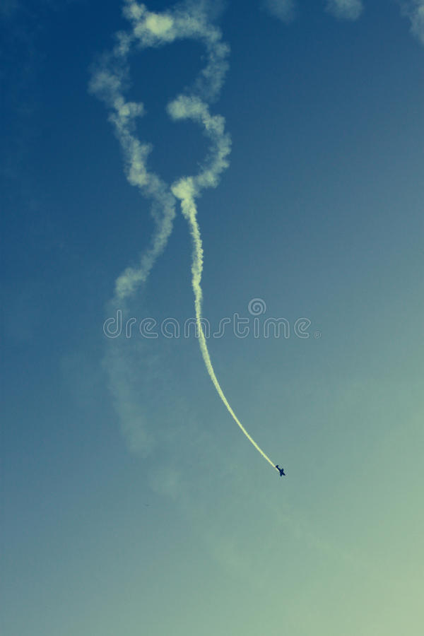 Plane air show stock photos