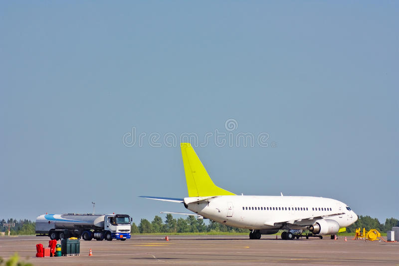 Download Plane at the airport stock image. Image of delivering - 10235463