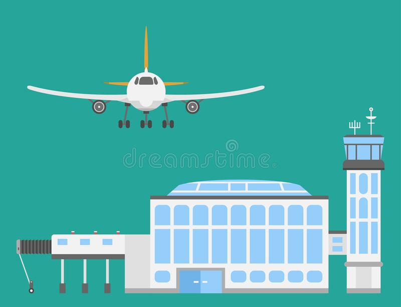 Plane airport transport symbols flat design illustration station concept air port symbols departure luggage plane. Lounge boarding flight tourism vector vector illustration