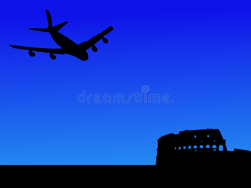 Download Plane arriving in Rome stock vector. Image of transportation - 2960413