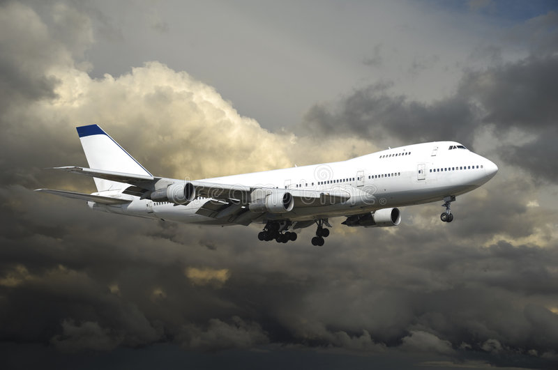 Download Plane in bad weather stock image. Image of clouds, cloudscape - 2955481
