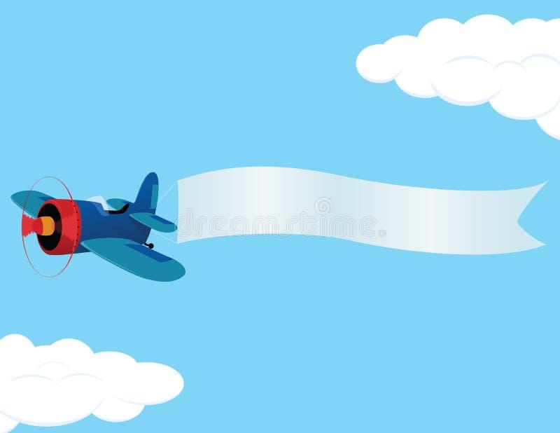 Plane_banner illustration libre de droits