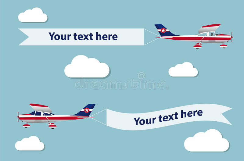Plane with banner. royalty free illustration
