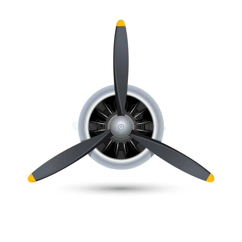 Free Plane Blade Propeller, Vector Airplane Wood Engine Logo Icon. Aircraft Propeller Fan Royalty Free Stock Photos - 178087738