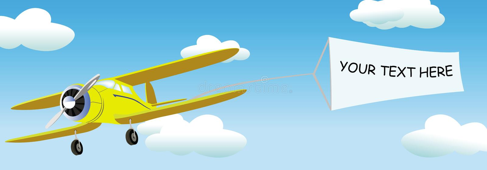 Download Plane With Blank Banner For Your Commercial/text Stock Vector - Image: 20714350