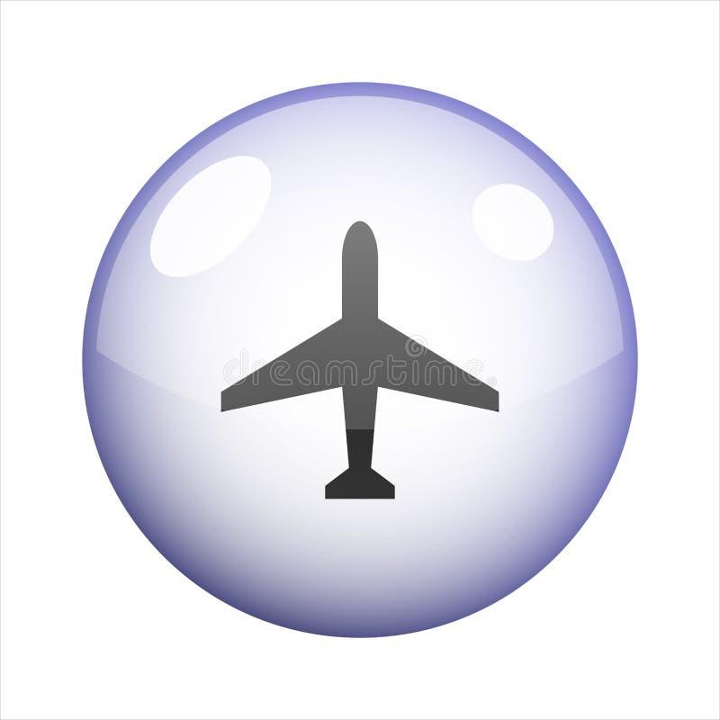 Plane-Blase-Symbol vektor abbildung