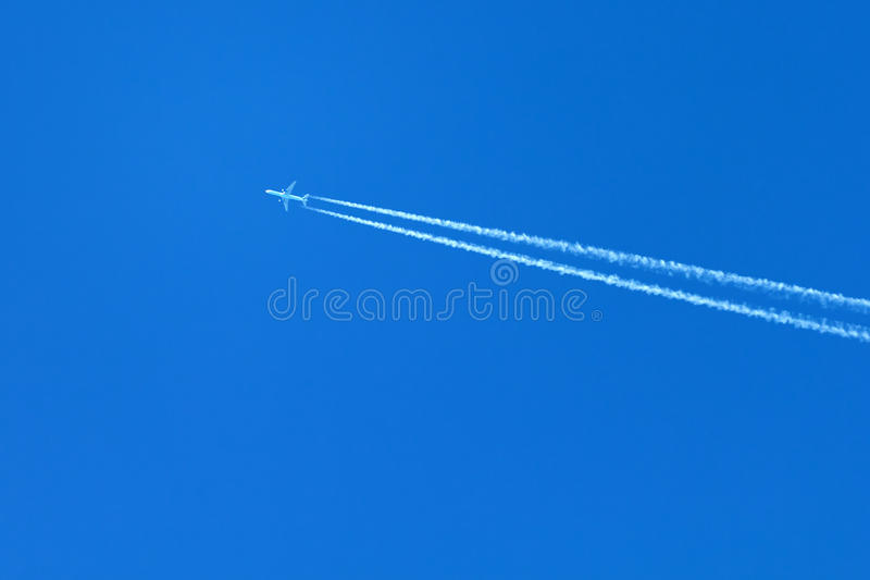 Download Plane On A Blue Sky Stock Photos - Image: 19516973