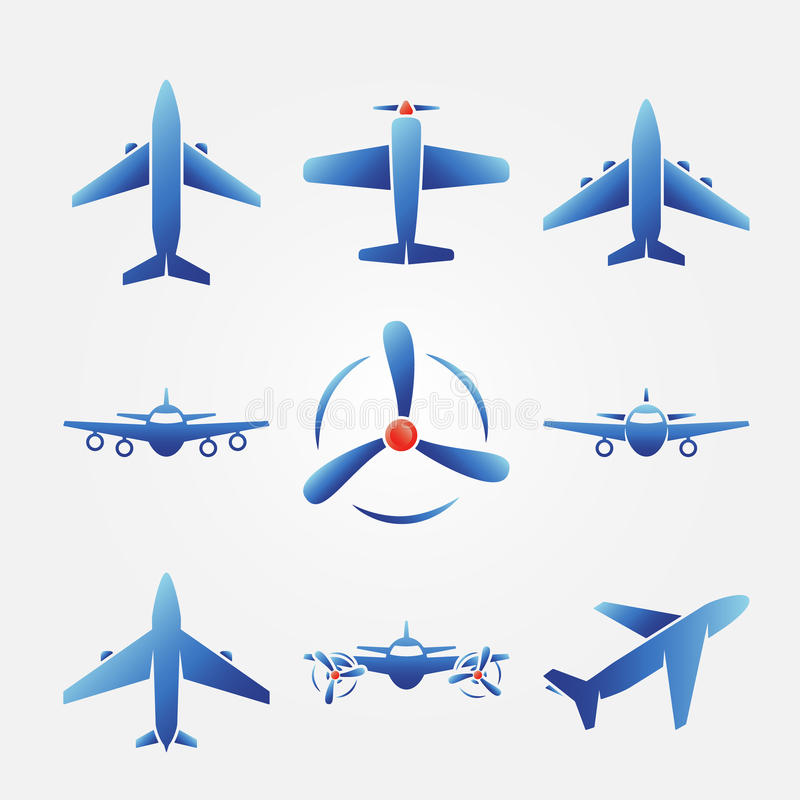 Plane Blue Vector Icons Stock Vector Illustration Of Aircraft