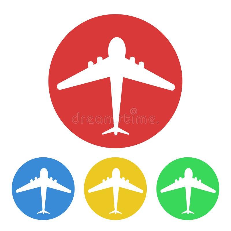 Plane button tourism design, stock vector illustration royalty free illustration