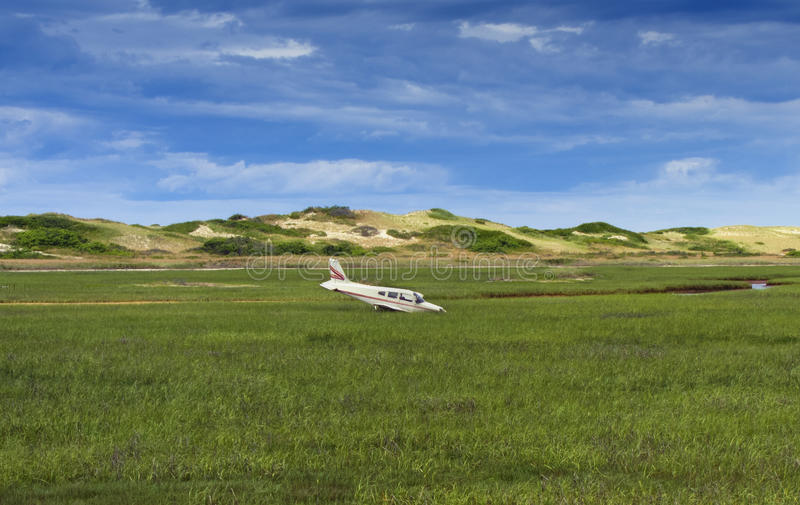Download Plane crash in marshes stock photo. Image of aviation - 25664896