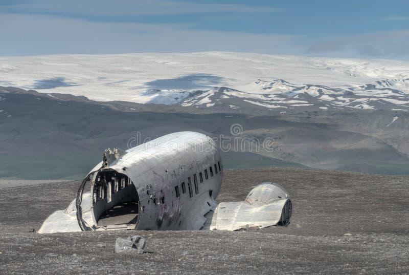 Plane Crash Ruins, Sólheimasandur - Iceland royalty free stock photos