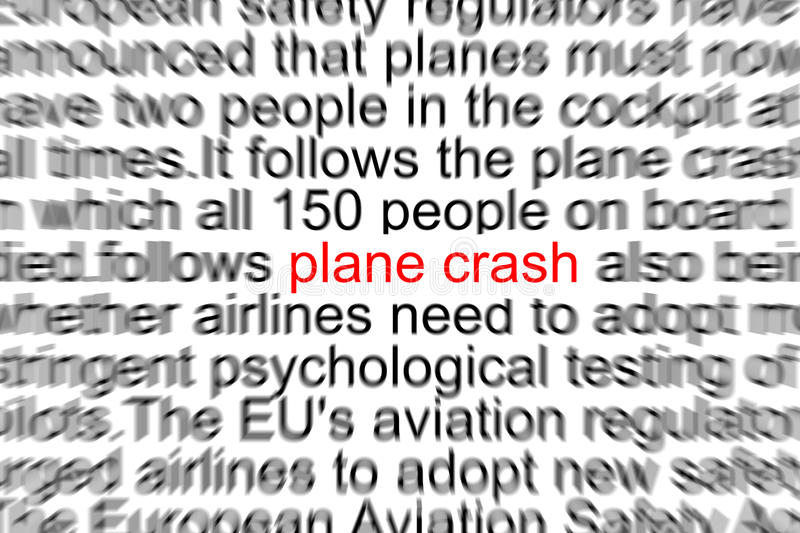 Plane Crash stock illustration