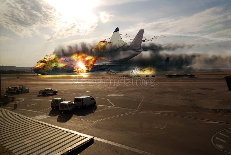 Plane disaster royalty free illustration