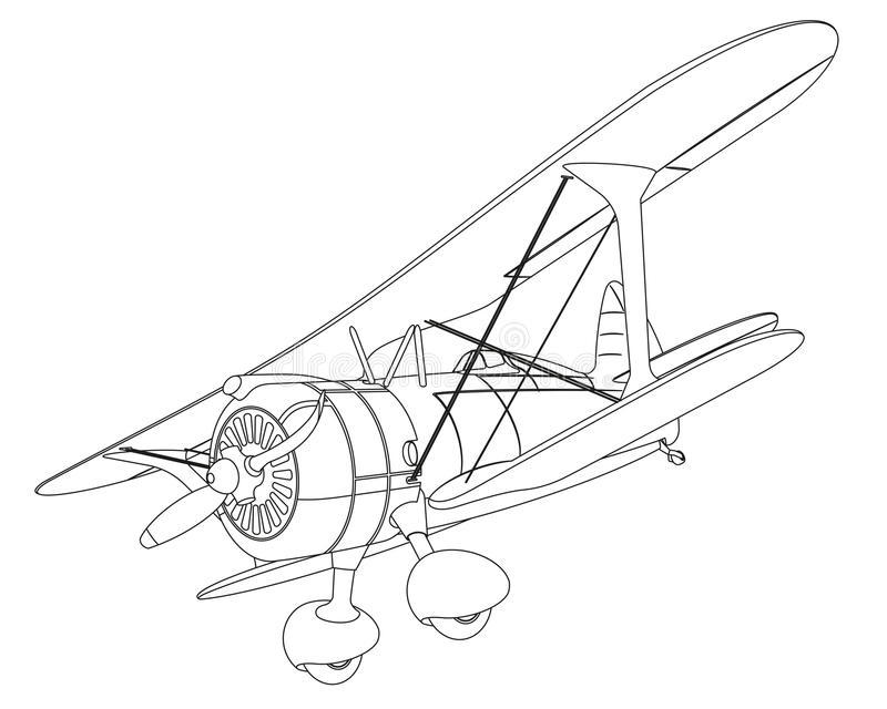 Plane Drawing Stock Vector Illustration Of Airplane
