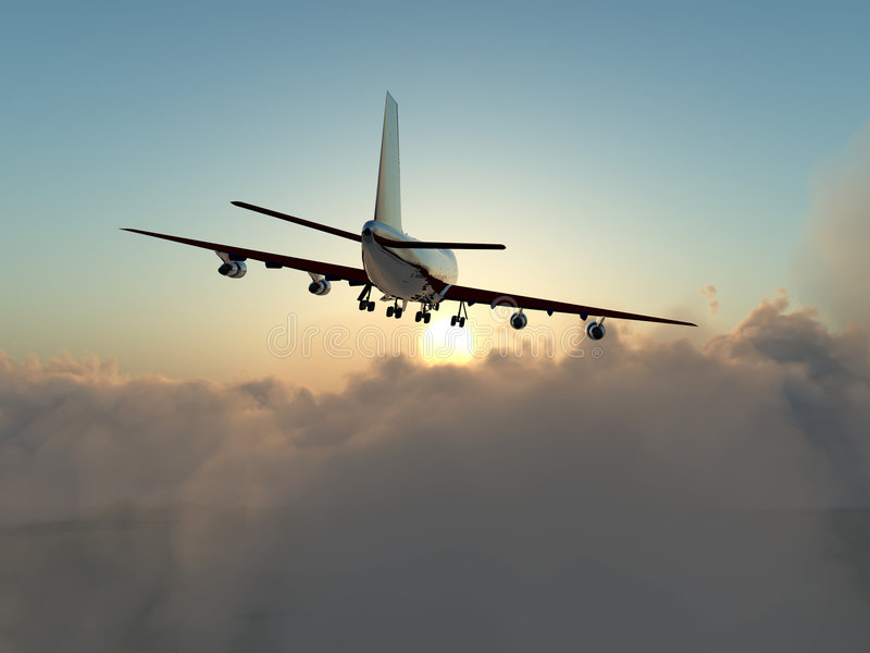 Download Plane In Flight Over Clouds Stock Image - Image: 7865577