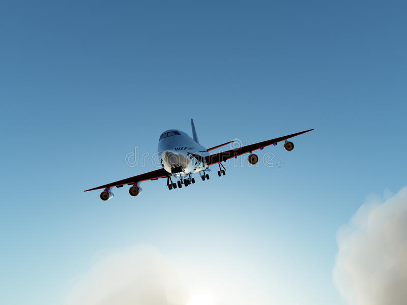 Download Plane In Flight Over Clouds Stock Photo - Image: 9486404