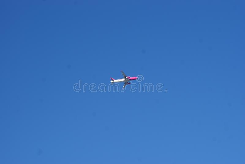 Plane on the Blue sky stock image