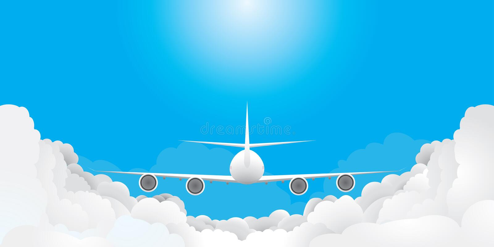 Plane Is Flying Stock Photos