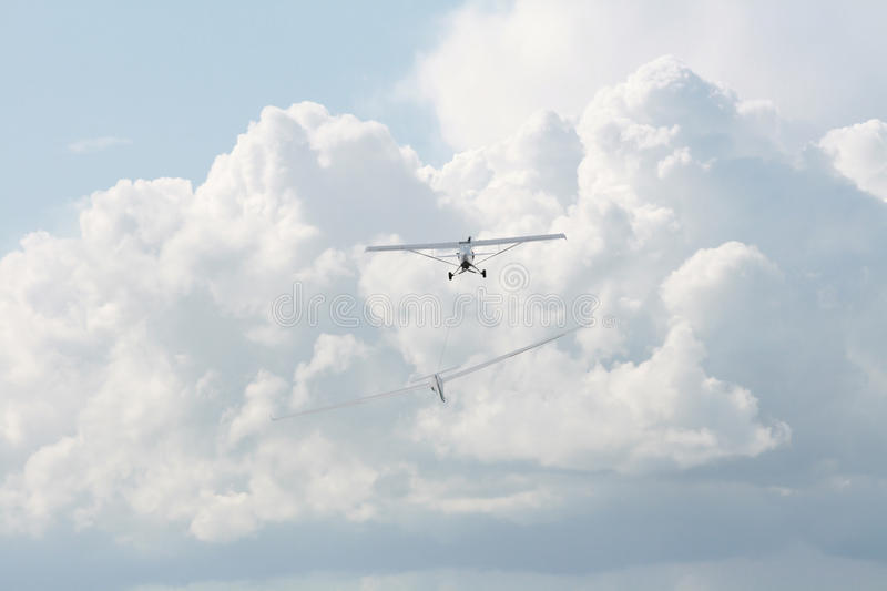 Download Plane and glider stock photo. Image of summer, active - 20363018