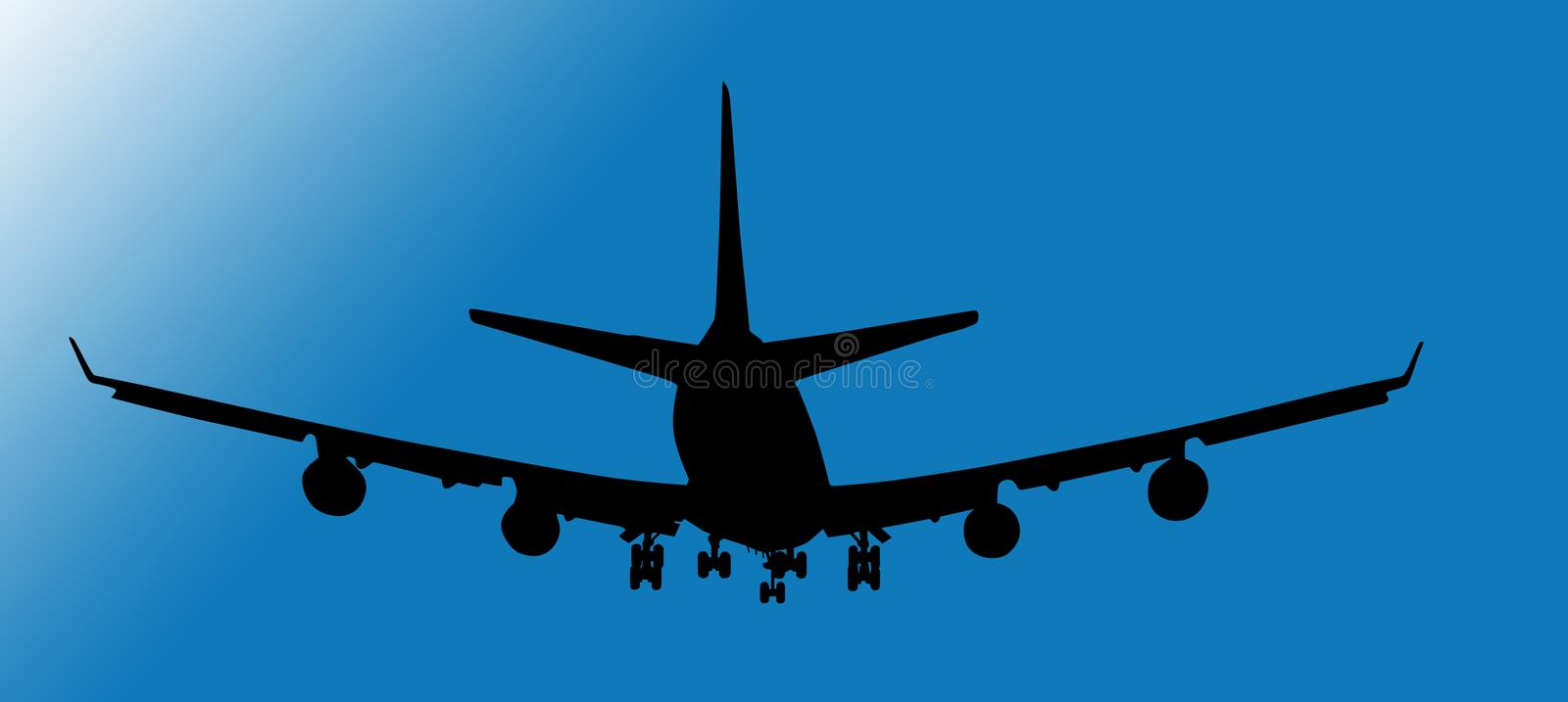 Download Plane is going stock illustration. Illustration of gradients - 1300042