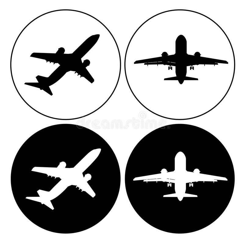 Plane icon set simple symbol for app royalty free illustration