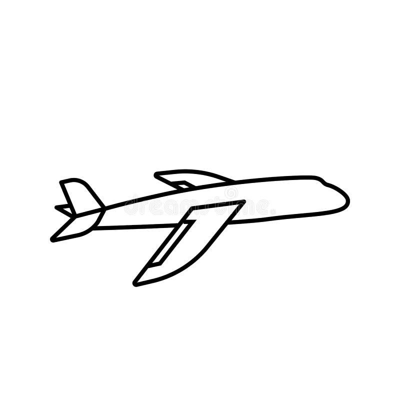Plane Icon. Simple Outline Plane Vector Icon On White ...