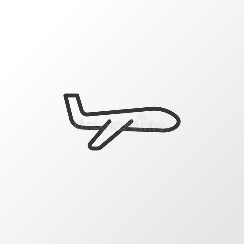 Plane Icon Symbol. Premium Quality Isolated Air Transport Element In Trendy Style. vector illustration