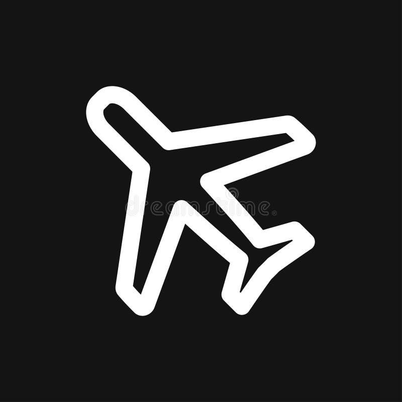 Plane icon on white background, airplane vector Illustration vector illustration
