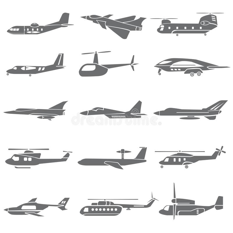 Plane icons stock illustration