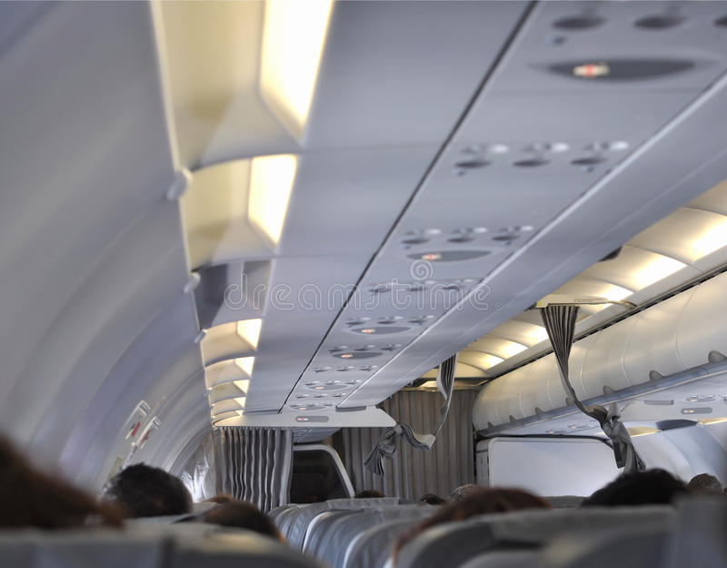 Plane interior royalty free stock photos