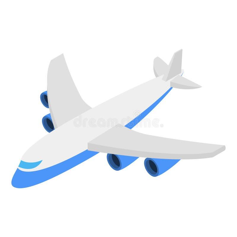 Plane isometric 3d icon stock illustration
