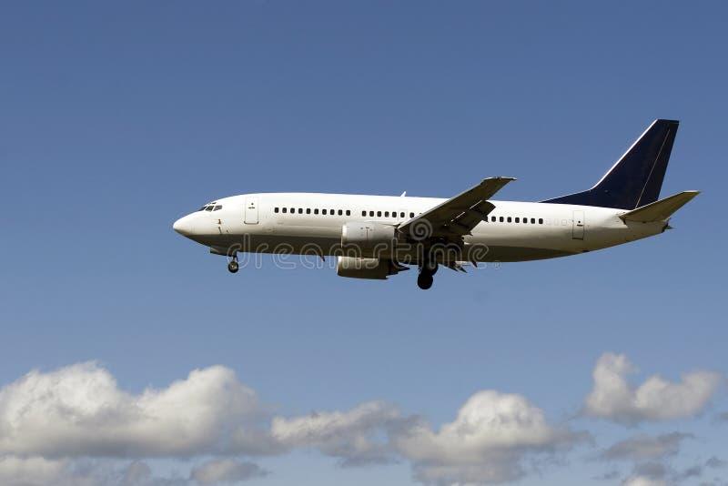 Plane landing royalty free stock photo
