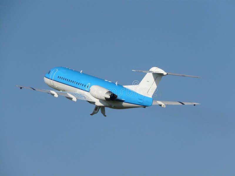 Plane leaving royalty free stock image