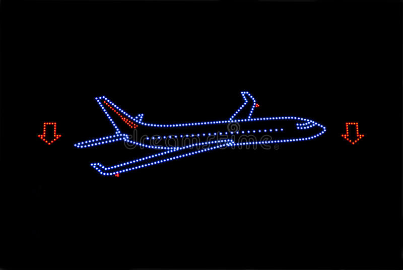 Download Plane neon stock image. Image of signage, airplane, aircraft - 16816931