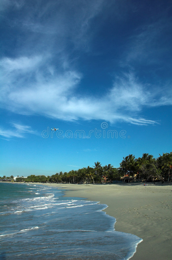 Download A plane over a beach stock image. Image of holiday, scenic - 1926569