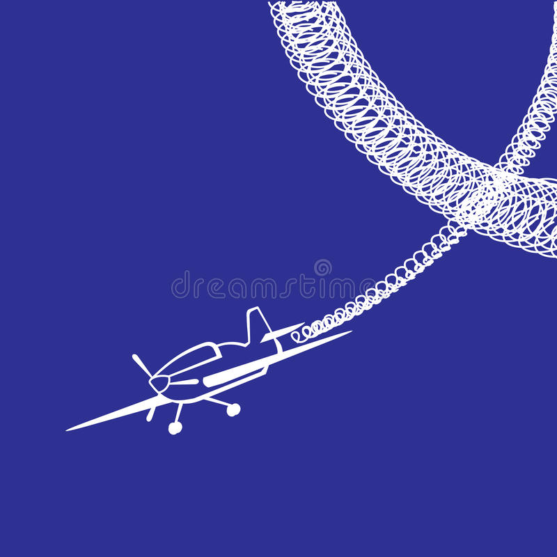Plane Over Blue Royalty Free Stock Images