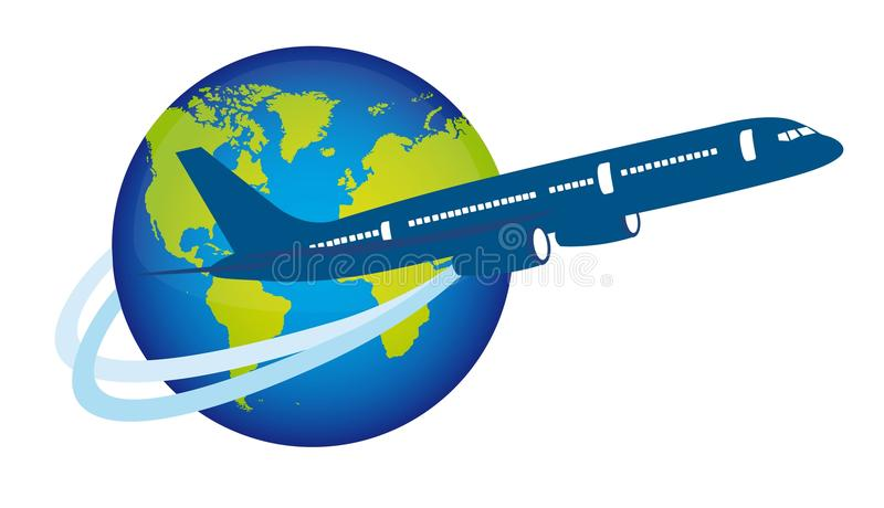Download Plane over planet stock vector. Image of space, airliner - 22778816