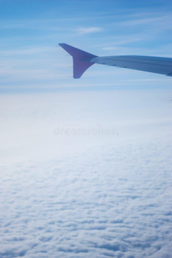 Plane passes through the fog royalty free stock photos