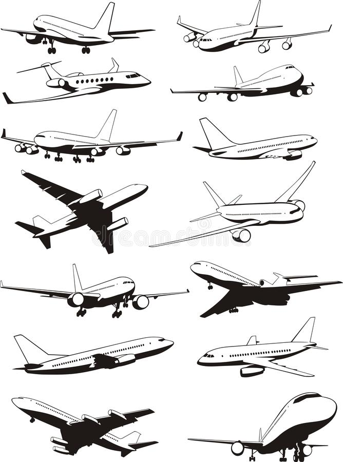 Download Plane set stock vector. Image of fuselage, aerial, carriage - 22263337