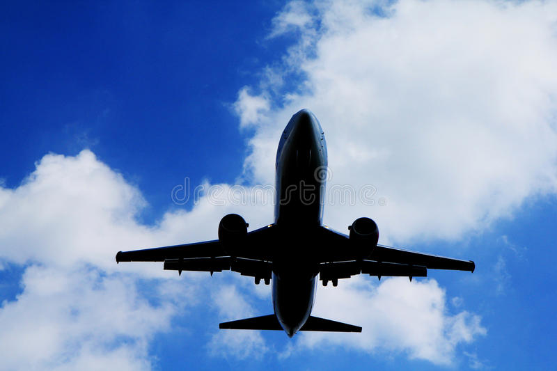 Plane silhouette stock images