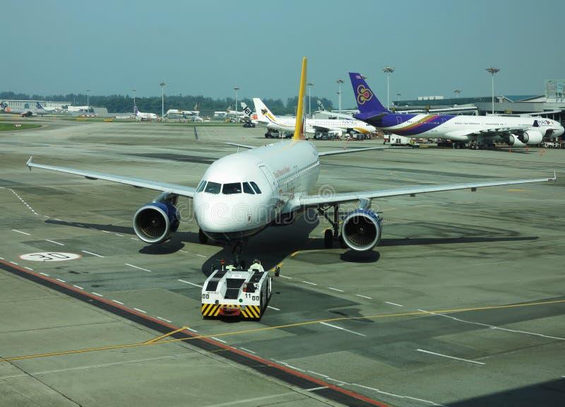 Plane Singapore Airport stock photo
