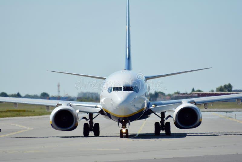 Plane SP-RSA - Boeing 737-8AS - Ryanair Sun preparing to take off. stock photos