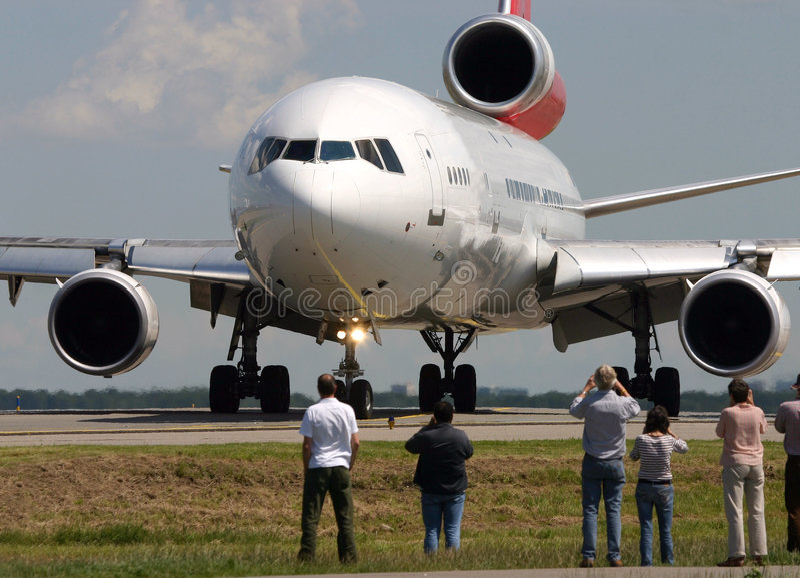Plane spotting royalty free stock photos